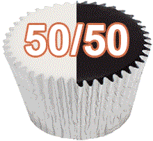 50/50 cupcake flavours