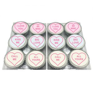 love hearts sweets cupcakes