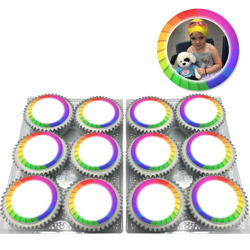 rainbow swirl cupcakes