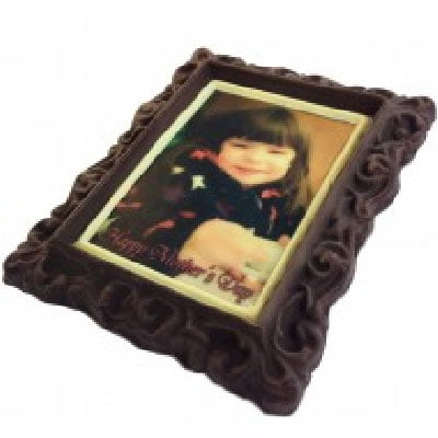 Chocolate photo frame