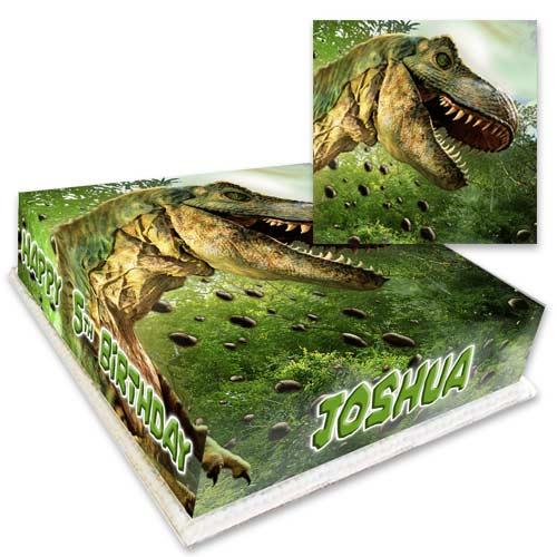 personalised dinosaur cake