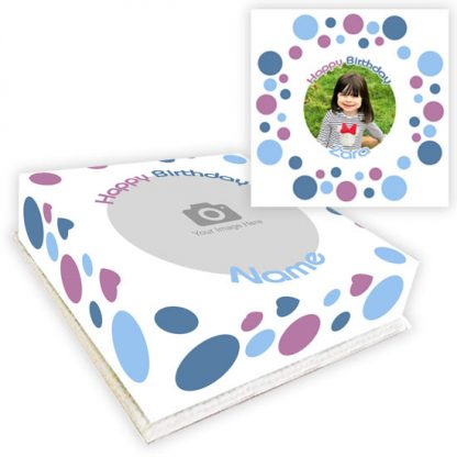 polka dot photo cake
