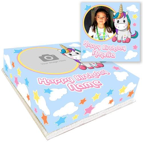 buy unicorn cake with photo