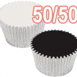 half vanilla cupcakes half chocolate cupcakes