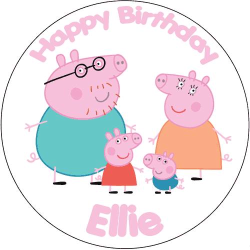 Peppa family cake topper