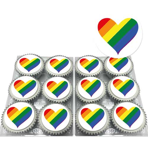rainbow heat cupcake lgbt