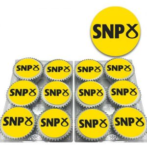SNP Logo on cupcakes