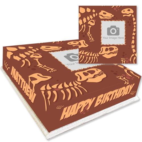 Dinosaur Bones Photo Cake