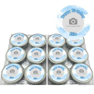 Clouds Photo Cupcakes