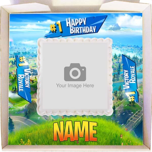 Small Fortnite Birthday Gift Cake