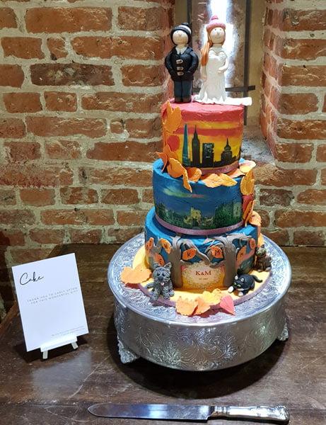 wedding cake with edible photo example