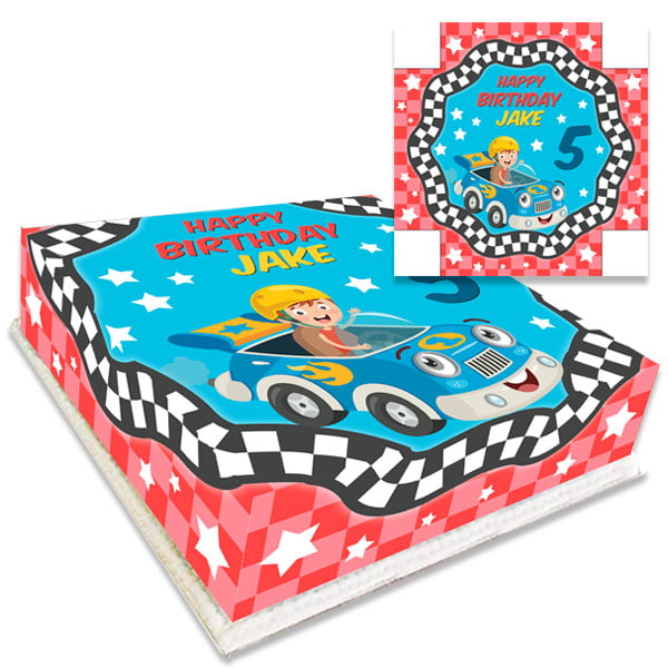 Kids Racing Car Birthday Cake Personalised
