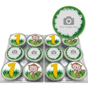 Personalised Monkey Cupcakes for Kids