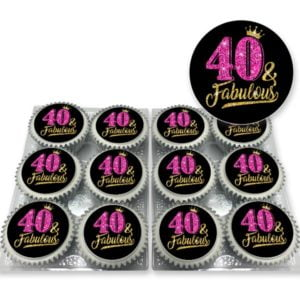 40 & Fabulous cupcakes delivered