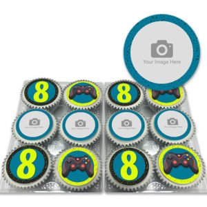 Personalised Gaming Photo Cupcakes