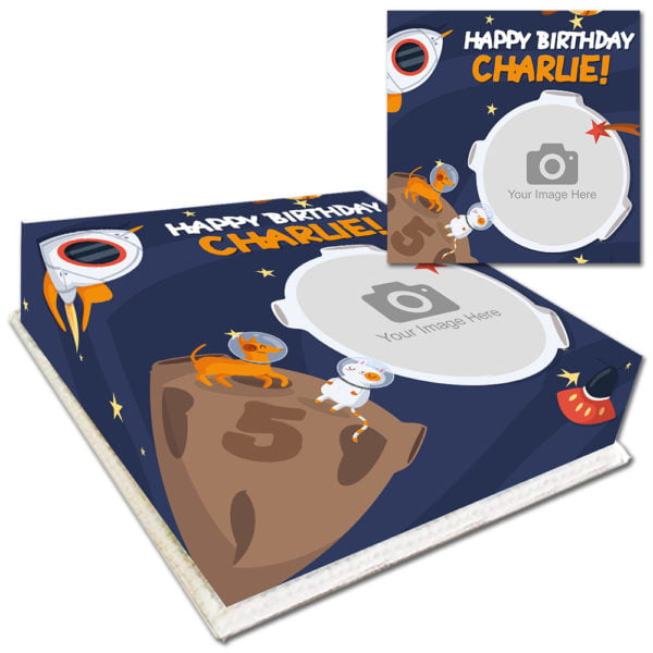 Buy Space Birthday Cake with Photo for Kids