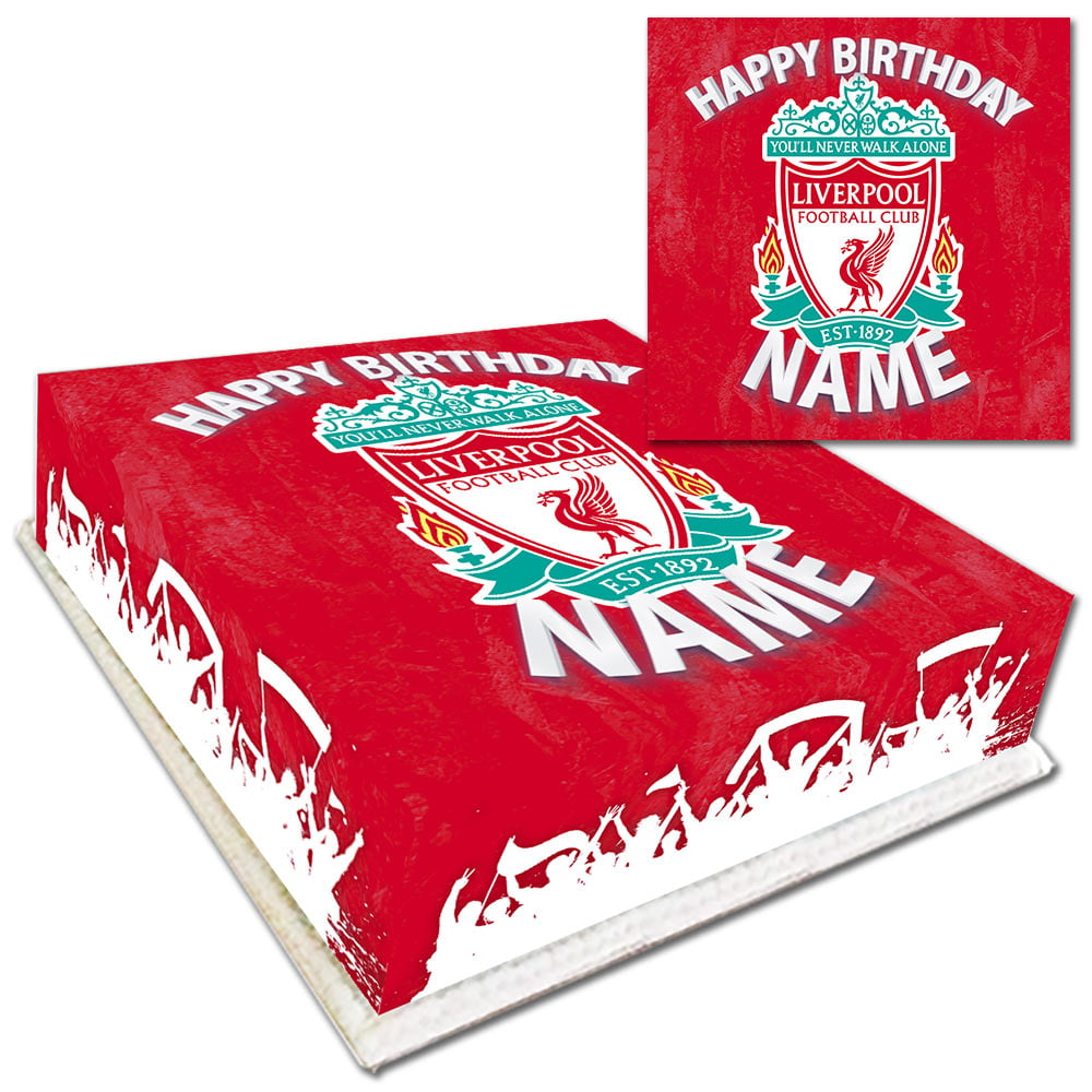 Personalised Liverpool Birthday Cake