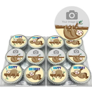 Sloth Cupcakes Add Your Photo