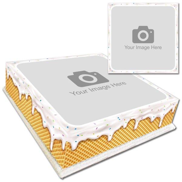 Ice Cream Drip Photo Cake