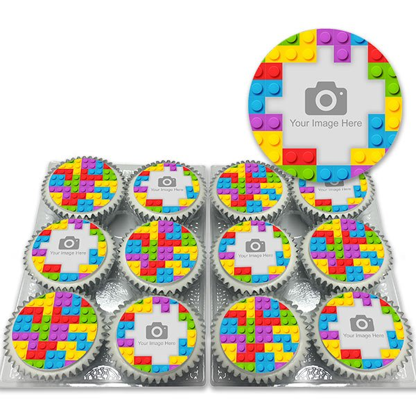 lego cupcakes | Toy Block Cupcakes with Photo Delivered