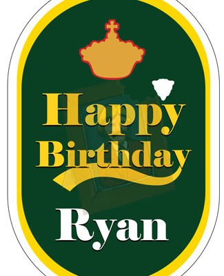 Personalised Lager Beer Label for Cakes