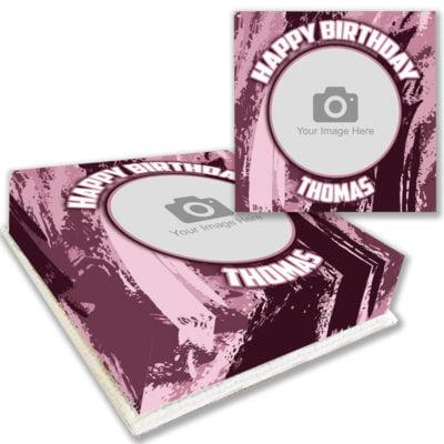 pink brush photo cake online