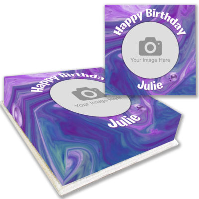 Purple Marble Photo Cake Order online