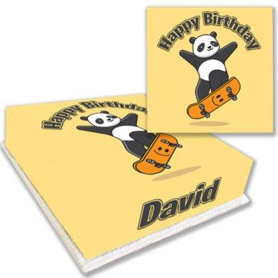 Skating Panda Birthday Cake