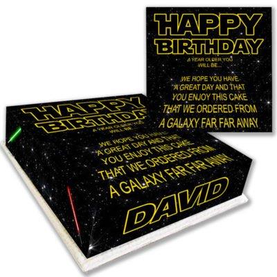 Star Wars Birthday Cake Text