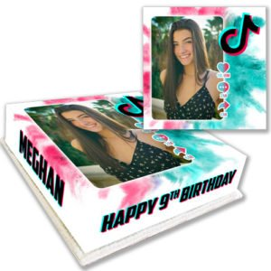 Personalised TikTok Cake with Photo