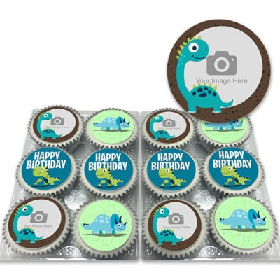 Photo Dinosaur Birthday Cupcakes
