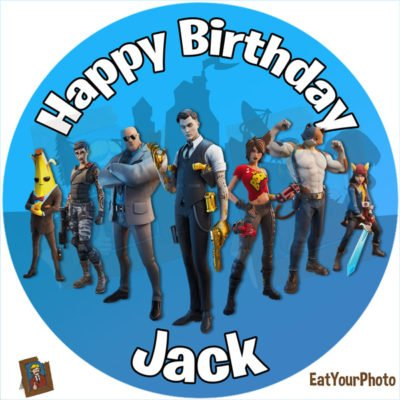 Fortnite Season 2 Edible Photo Cake Topper