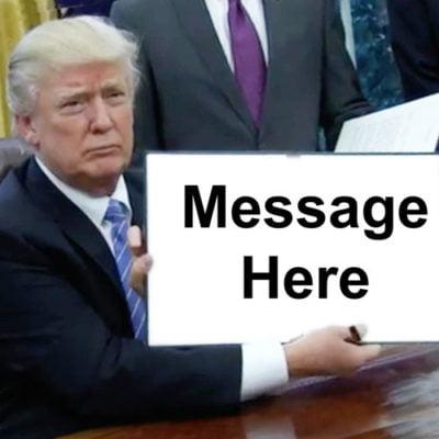 Edible Trump Meme