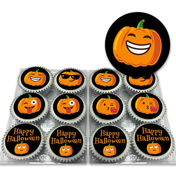 Pumpkin Emoji Cupcakes Delivered