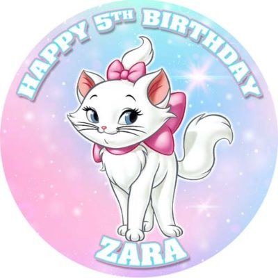Cat Marie Birthday Cake Topper