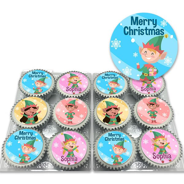 Elves Christmas Cupcakes Delivered