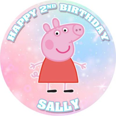 Girls Peppa Pig Cake Topper