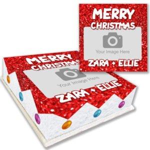Glitter Christmas Baubles Cake