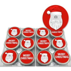 Santa's Face Cupcakes