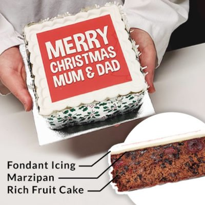Personalised Christmas Cake Online