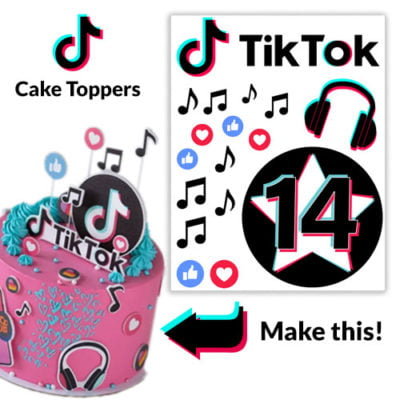 personalised tiktok cake toppers