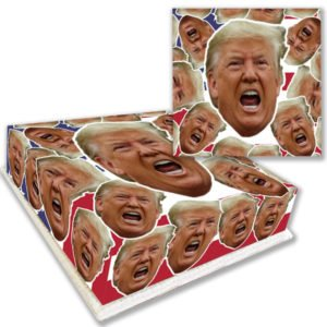 Donald Trump Face Cake Delivered