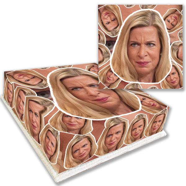 Katie Hopkins Face Birthday Cake