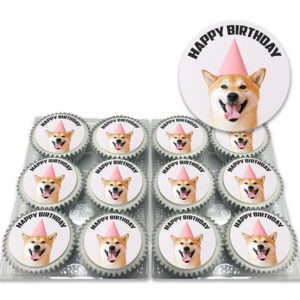 Order Cute Dog Birthday Cupcakes for Delivery