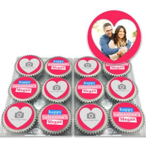 Order Happy Valentines Photo Cupcakes Delivered
