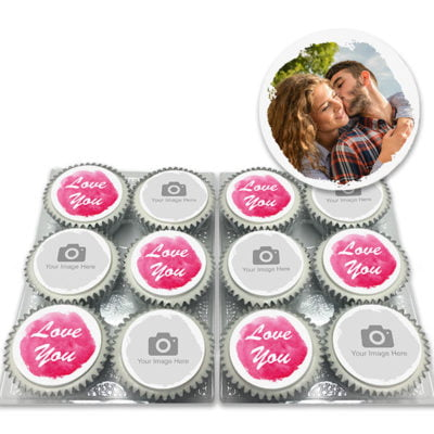 Love You Photo Cupcakes Delivered